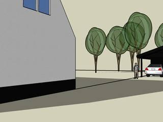 Impressie vanaf straat:   door LAB_A architectuur