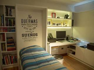 MinBai DormitoriosCamas y cabeceros Madera Blanco