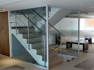 Modern Corridor, Hallway and Staircase by bdlconceptstudio Modern