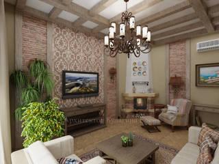 Living room by Архитектурное Бюро 'Капитель', Country