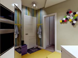 AlexLadanova interior design Modern Corridor, Hallway and Staircase