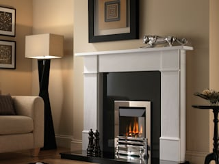 Grosvenor Grove Chrome High Efficiency Gas Fire:   by Superior Fires