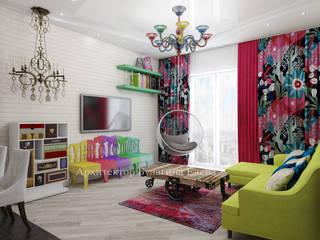 Living room by Архитектурное Бюро 'Капитель', Mediterranean