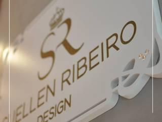 Utilização do Silestone Blanco Zeus Suede. Paredes e pisos modernos por Granitos.com Moderno