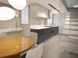 RAFE Arquitetura e Design Kitchen Ceramic Grey
