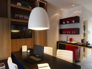Moderne kantoorgebouwen van Pricila Dalzochio Arquitetura e Interiores Modern