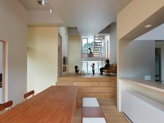 藤原・室 建築設計事務所 Ruang Keluarga Modern White