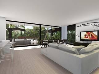 1293 M-X Salas de estar modernas por Palma Moderno