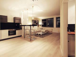 Wohnen am Südpark Moderne Küchen von Planungsgruppe Korb GmbH Architekten & Ingenieure Modern