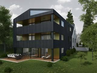 Wohnüberbauung Maßfelder Weg Moderne Häuser von Planungsgruppe Korb GmbH Architekten & Ingenieure Modern