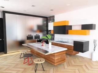 Propuesta interiores.: Cocinas de estilo  por Eidética