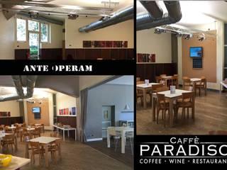 Il Restyling del Caffè Paradiso _ Minimalismo elegante_Terranuova Bracciolini (Arezzo): Negozi & Locali commerciali in stile  di Rosy Gioia Architetto