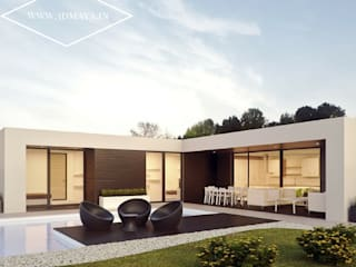 Exterior Architectural Visualization:  Houses by 3d Maya