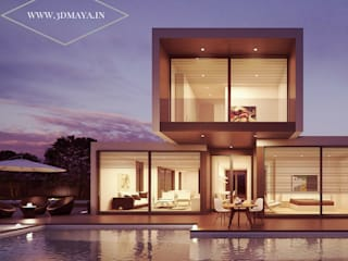 Exterior Architectural Visualization:   by 3d Maya