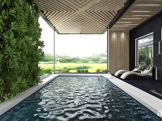 ARTDESIGN architektura wnętrz Piscinas de estilo moderno