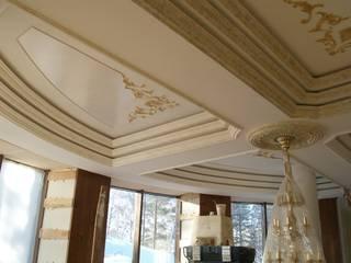 роспись потолка имитация камня, золочение лепнины: Гостиная в . Автор – Художественная мастерская 'Оникс'