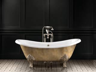 Lamé Freestanding Bath | Elite Marble Flooring: classic Bathroom by Devon&Devon UK