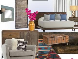 Rancho LC Dormitorios rústicos de Estudio Chipotle Rústico