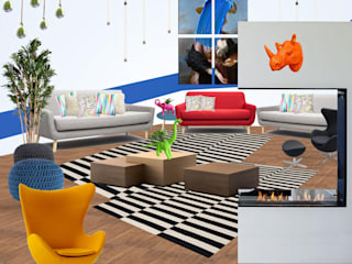 Casa FDE Salones modernos de Estudio Chipotle Moderno