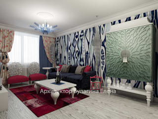 Ruang Keluarga oleh Архитектурное Бюро 'Капитель', Eklektik