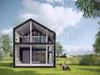 Balcon, Veranda & Terrasse originaux par NEWOOD - Современные деревянные дома Éclectique