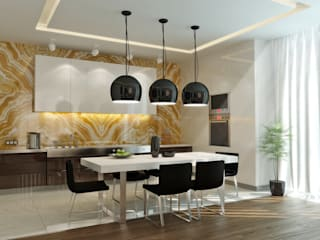 Квартира- студия 72 м/кв: Гостиная в . Автор – metrixdesign