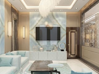 Modern house Design of Katrina Antonovich:  Living room by Luxury Antonovich Design