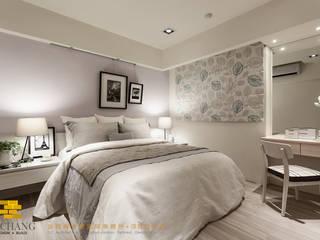 Rustic style bedroom by 垼程建築師事務所/浮見月設計工程有限公司 Rustic