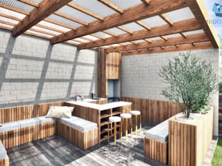 Moderne balkons, veranda's en terrassen van NidoSur Arquitectos - Valdivia Modern