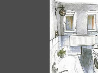 Łazienka w kamienicy.: styl , w kategorii  zaprojektowany przez Artur Grab Design