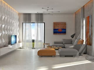 Living room by KARU AN ARTIST, Modern