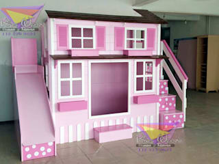 Encantadora casita de lunares: Habitaciones infantiles de estilo  por camas y literas infantiles kids world