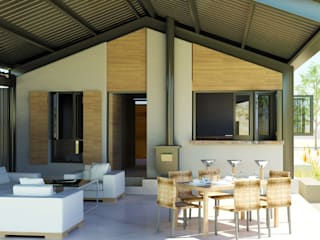 Steel portal framed House Modern houses by Edge Design Studio Architects Modern