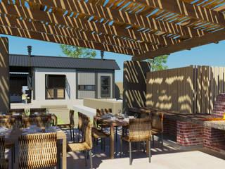 Hiên, sân thượng phong cách hiện đại bởi Edge Design Studio Architects Hiện đại