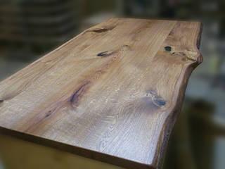 Стол. Столешница с природным краем:  в . Автор – Дубовая Долли, Лофт