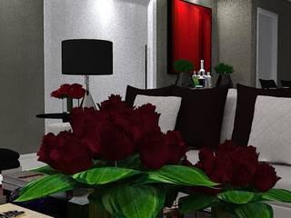 A A House : Salas de estar  por Thaissa Maziero - Interior Studio