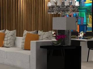 J I R House : Salas de jantar  por Thaissa Maziero - Interior Studio
