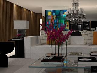 J I R House : Salas de estar  por Thaissa Maziero - Interior Studio