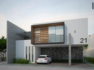 Perspectiva exterior: Casas de estilo  por DAR Arquitectos