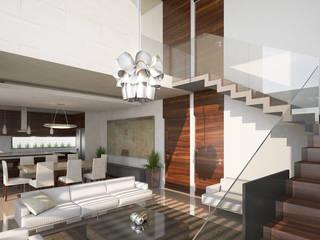 Perspectiva interior: Salas de estilo minimalista por DAR Arquitectos