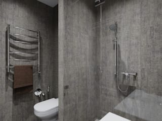 AlexLadanova interior design Minimalist style bathroom Grey