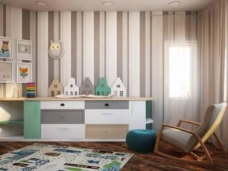 Chambre d'enfant minimaliste par Дизайн студия Алёны Чекалиной Minimaliste