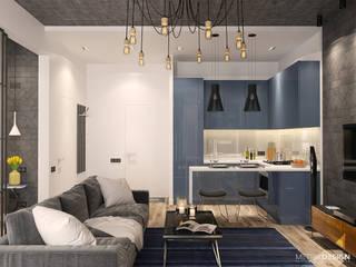 Квартира- студия 46 м/кв.: Гостиная в . Автор – metrixdesign,