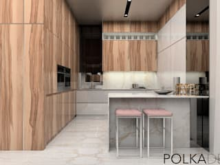 Eclectic style kitchen by Polka architecture studio Eclectic