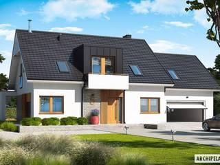 Katrina G2 - dom, który kradnie serca miłośnikom nowoczesności : styl , w kategorii Domy zaprojektowany przez Pracownia Projektowa ARCHIPELAG,Nowoczesny