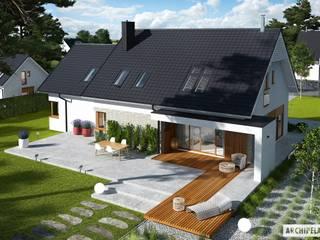 Katrina G2 - dom, który kradnie serca miłośnikom nowoczesności Nowoczesne domy od Pracownia Projektowa ARCHIPELAG Nowoczesny