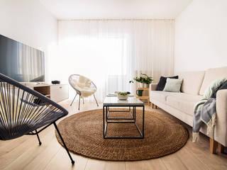 PATIO HOUSE Skandynawski salon od Pracownia projektowa Na Antresoli Skandynawski