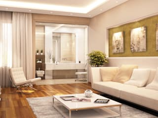 Metallic-Effektbeschichtung mit feiner Sandstruktur:  Wohnzimmer von Paul Jaeger GmbH & Co. KG
