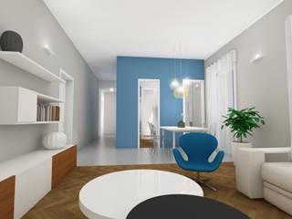 Render del primo progetto del soggiorno:  in stile  di SuMisura