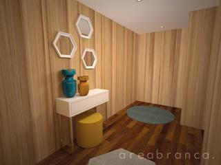 Projeto MC Corredores, halls e escadas modernos por Areabranca Moderno